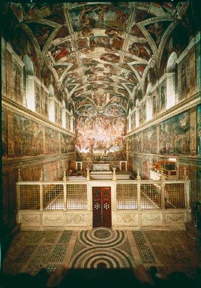 a history of michelangelos work on the sistine chapel Into its creation michelangelo buonarroti never wanted to paint the sistine  chapel  i found this work historical, biographical, and hermeneutic the author .