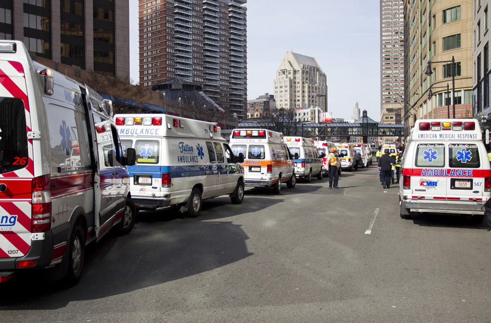 boston marathon ambulances