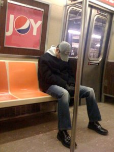 sleep on subway