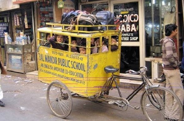 New Deli  India school bus