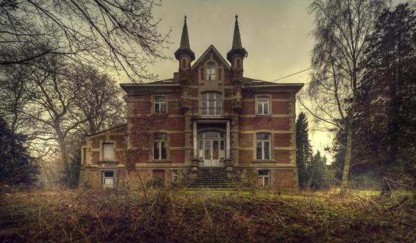Old Abandoned Manor House with the ghosts of the past