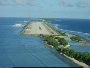 Wake Island in Pacific Ocean