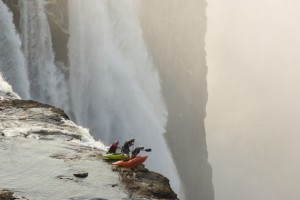Extreme Kayaking to the edge of Victoria Falls