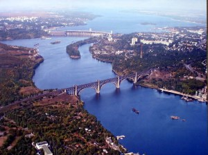 Arial view of Donetsk