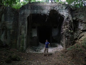 Caves and bunkers were throughout Japan