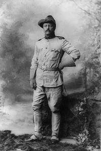 Colonel Theodore Roosevelt in his Rough Riders uniform on 26 October 1898.
