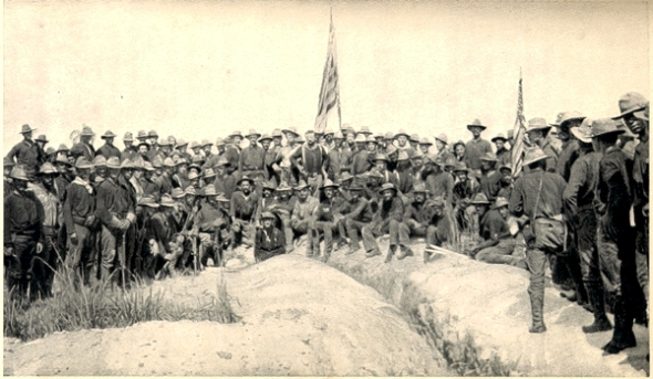 The Rough Riders after taking San Juan Hill