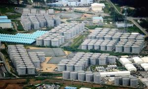 Tanks of contaminated water