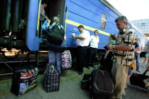 Fleeing from Donetsk