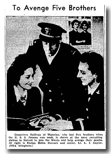 The last of the Sullivan children, Genevieve Sullivan joins the Waves in 1943.