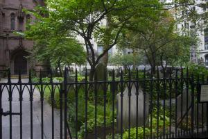 Trinity Church cemetery today
