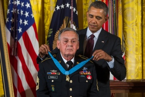 Sgt. Jose Rodela receives the Medal of Honor for his military service