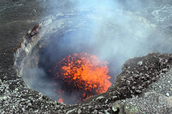 The pit of hell?   No, the Kilauea Volano in Hawaii All photos by the U.S. Geographical Society