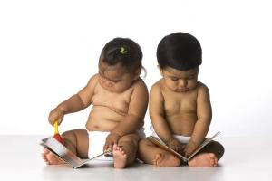 babies reading