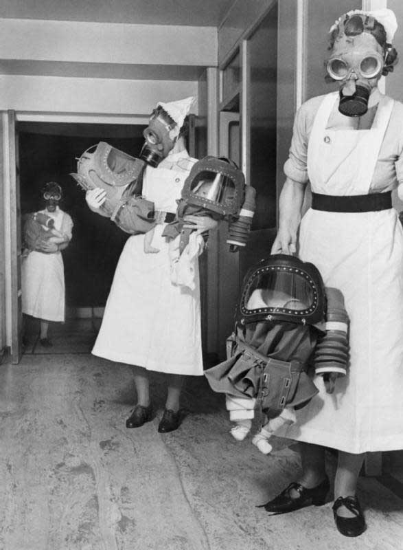 You may be a nurse caring for babies and children but not trying to save them from gas warfare like these nurses of WWII