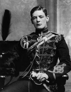 Young Winston Churchill prepared to lead.