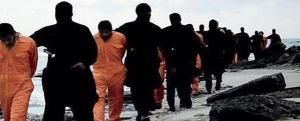 Coptic Christians being led to execution