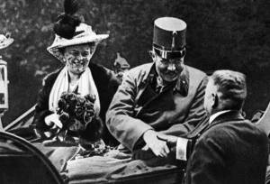 Archduke Franz Ferdinand and wife day of assassination1914 begins WWI