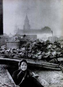 Survivor of Nagasaki bombying 1945