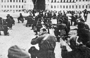 Bolsheviks storm Winter Palace in St. Petersburg November 7, 1917