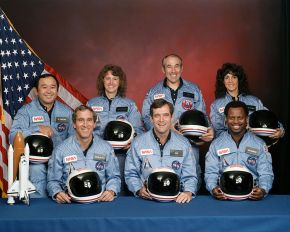Challenger_flight_51-l_crew and Teacher Christa McAuliffe