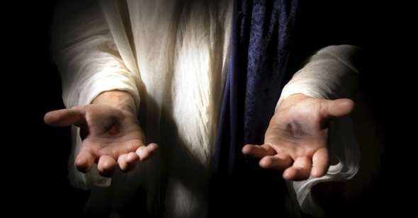 After resurrection His Hands