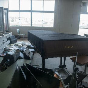 Japan music room after disaster