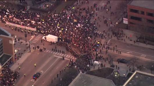 Protesters at Trump rally Chicago