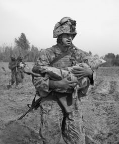 carrying child