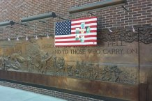 9-11 and flag memorial