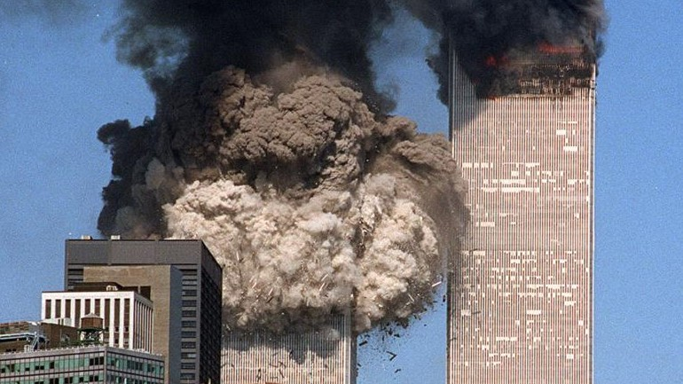 9-11 towers burning (2)