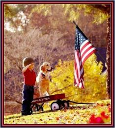 boy-and-dog-and-flag