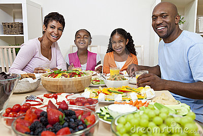 african-american-family-eating-dining-table-
