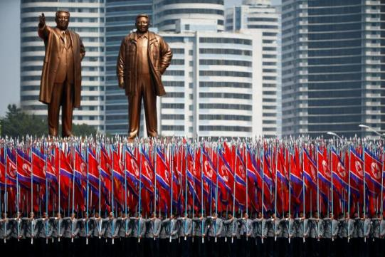 A Picture and its Story: North Korea on parade