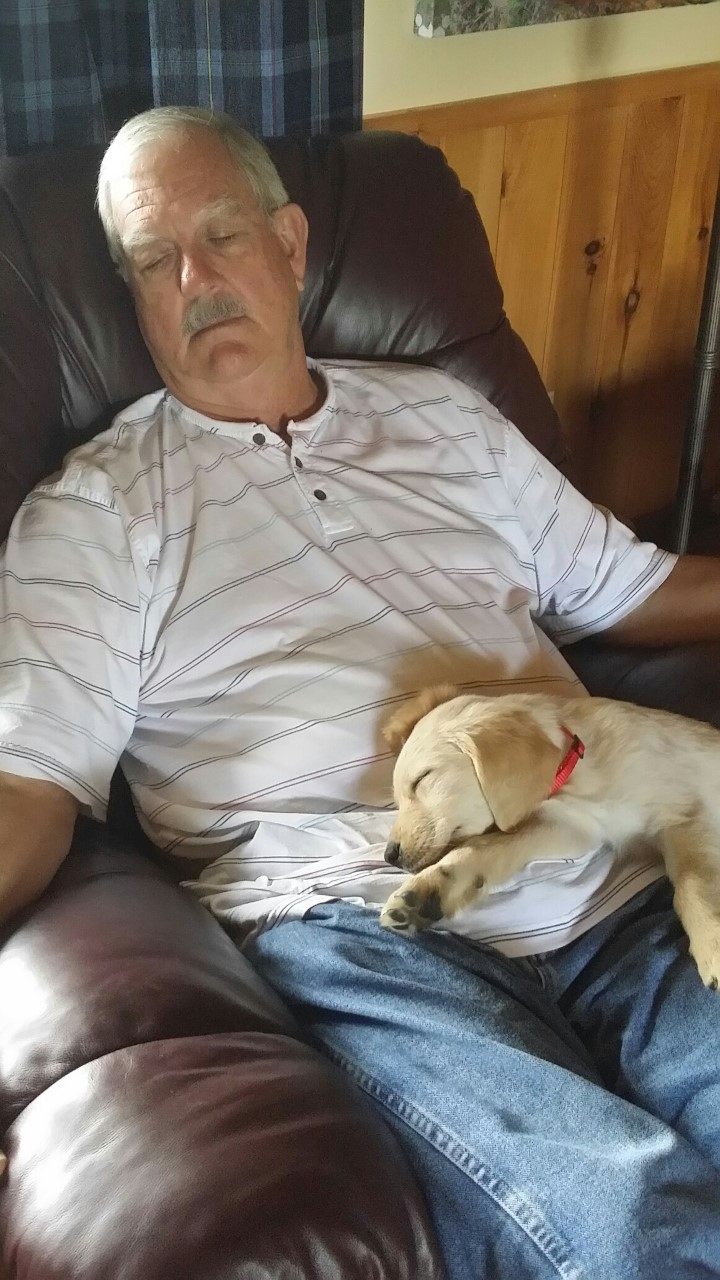 Bill and Fancy sleeping