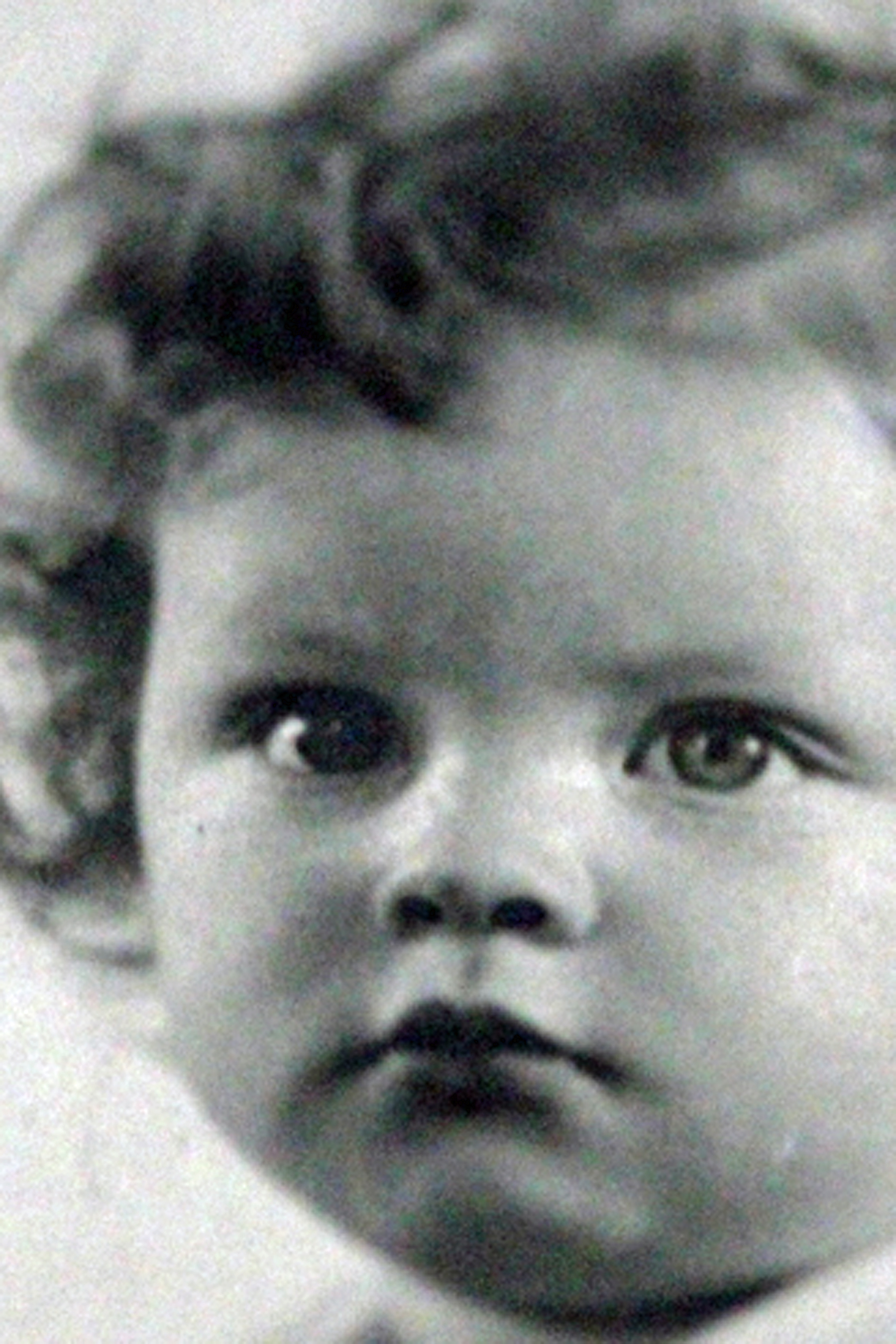 nancy as a babybw 6x9