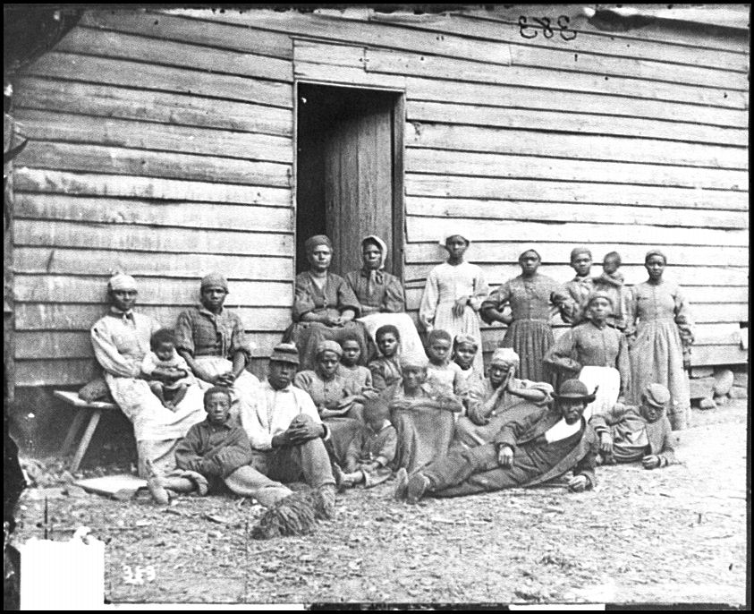 slaves at Foller House 1862- Library of Congress