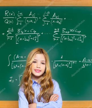 student girl and higher math