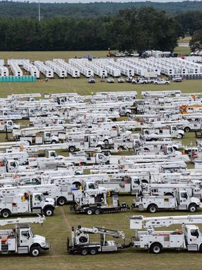 Staging area in GA to move into FL Irma