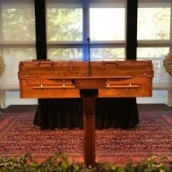 Billy Graham's plywood casket made by inmates at the Louisiana State Penitentiary.