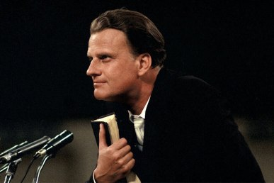 The Reverend Billy Graham at crusades