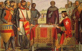 KING_JOHN signing the Magna Carta