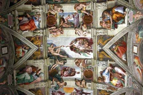 ceinling of Sistine Chapel in Rom