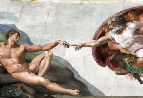 Creation of Adam in Sistine Chapel