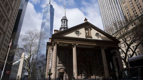 9-11 St Paul's Chapel near One World Trade Center