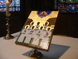 Icon of Melanesian Brotherhood Martyrs in Canterbury Cathedral Anglican Church