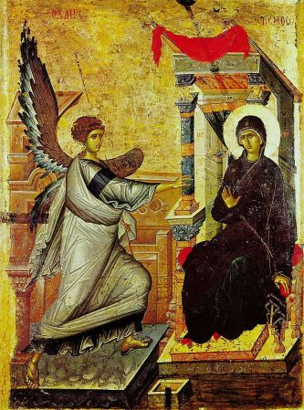The Annunciation icon in Macedonia
