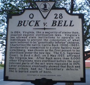 Buck v Bell in VA