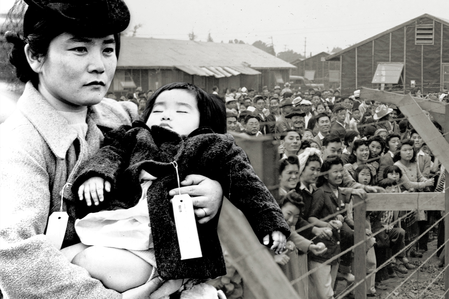 japanese mother and child at internment camp
