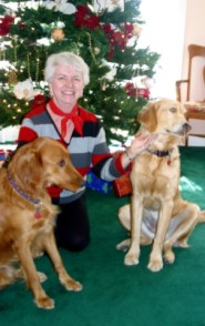 Nancy DD and Gracie at Christmas
